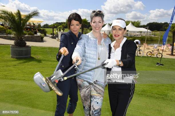 Gerit Kling Cheryl Shepard and Anja Kruse during the 10th GRK Golf Charity Masters on August 19 2017 in Leipzig Germany