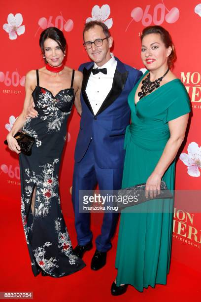 Gerit Kling her husband Wolfram Becker and Julia Dahmen attend the Mon Cheri Barbara Tag 2017 at Postpalast on November 30 2017 in Munich Germany