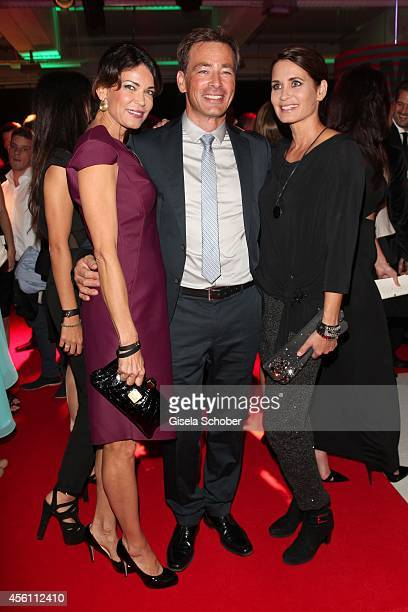 Gerit Kling Jan Sosniok and Anja Kling arrive at Tribute To Bambi 2014 at Station on September 25 2014 in Berlin Germany