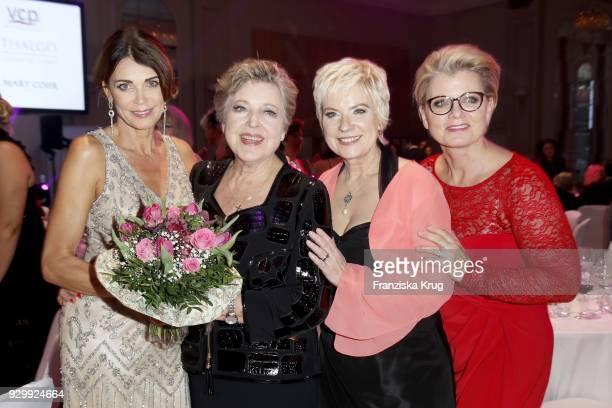 Gerit Kling MarieLuise Marjan Birgit Lechtermann and Andrea Spatzek during the Gloria Deutscher Kosmetikpreis at Hilton Hotel on March 9 2018 in...