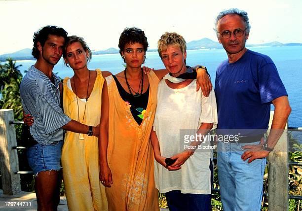 Gerit Kling , Schwester Anja und Freund Jens Solf, Mutter Margarita Kling und Vater Ulrich Kling,, Insel Koh Samui / Thailand, Urlaub, Familie,...