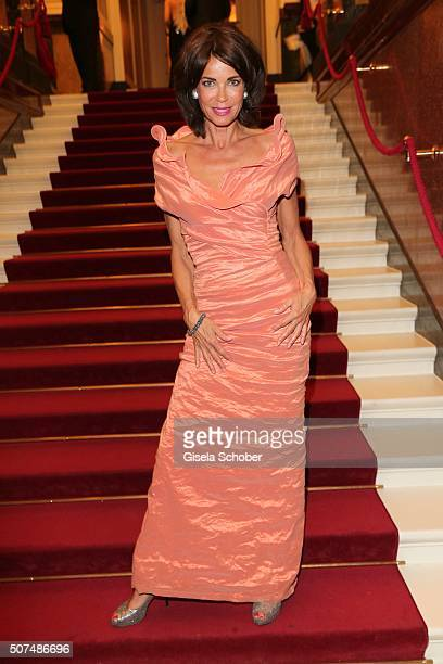 Gerit Kling wearing a dress by Anna von Griesheim during the Semper Opera Ball 2016 at Semperoper on January 29 2016 in Dresden Germany