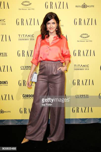 Germa model Marie Nasemann attends the Grazia Fashion Dinner at Titanic Deluxe Hotel on January 16 2018 in Berlin Germany