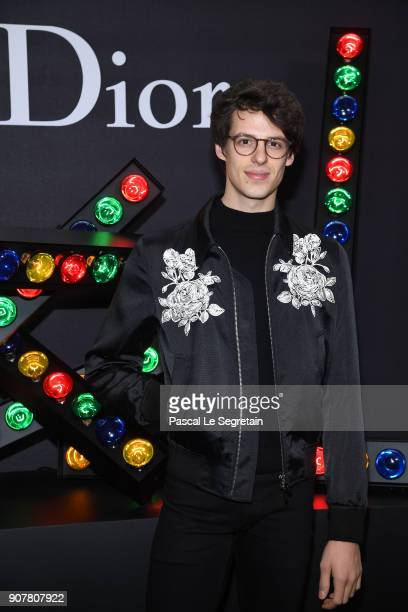 Germain Louvet attends Dior Homme Menswear Fall/Winter 20182019 show as part of Paris Fashion Week at Grand Palais on January 20 2018 in Paris France