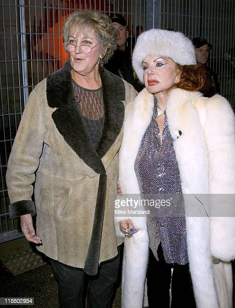 Germaine Greer and Jackie Stallone during Celebrity Big Brother III UK Grand Finale at Elstree Studios in London Great Britain