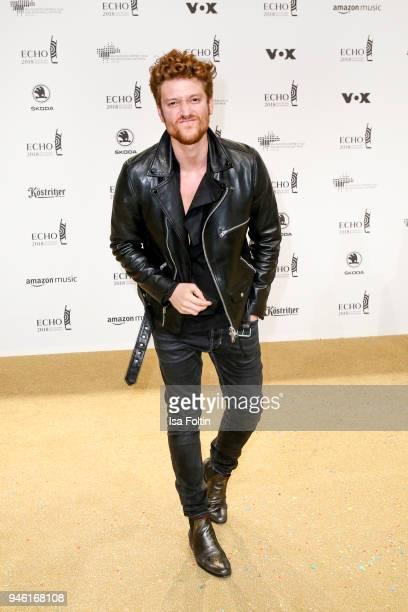 German aactor Daniel Donskoy arrives for the Echo Award at Messe Berlin on April 12 2018 in Berlin Germany