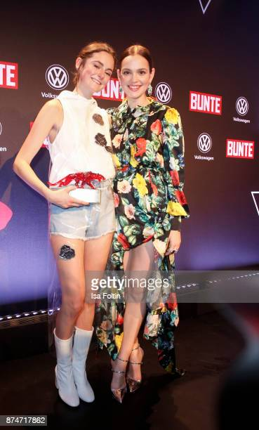 German actess and award winner Lea van Acken and German actress Emilia Schuele during the New Faces Award Style 2017 at The Grand on November 15 2017...