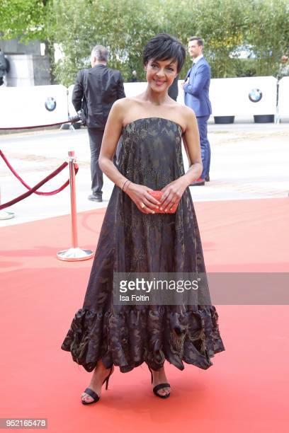 German actess Dennenesch Zoude attends the Lola German Film Award red carpet at Messe Berlin on April 27 2018 in Berlin Germany