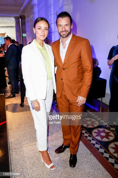 German actess Janina Uhse and German actor Stephan Luca attend the Blue Hour Party hosted by ARD during the 70th Berlinale International Film...