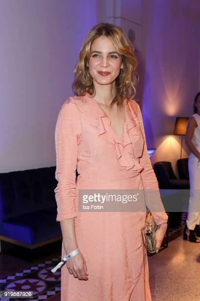 German actess Rike Schmid attends the Blue Hour Reception hosted by ARD during the 68th Berlinale International Film Festival Berlin on February 16...