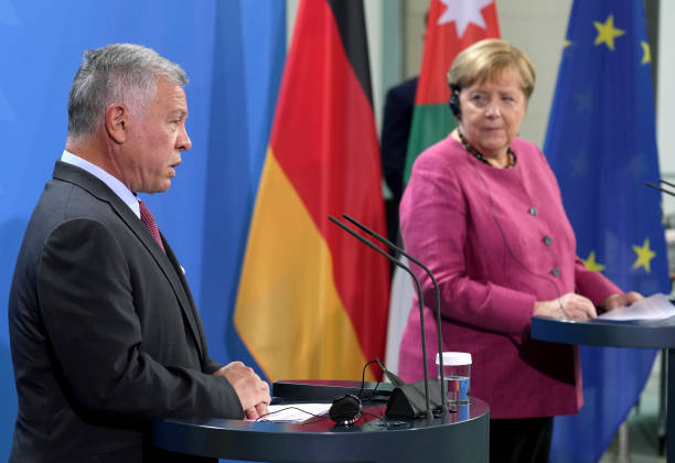 DEU: German Chancellor Angela Merkel Meets With Jordan's King Abdullah