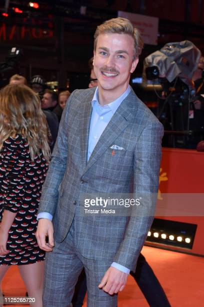 German actor Albrecht Schuch arrives for the closing ceremony of the 69th Berlinale International Film Festival Berlin at Berlinale Palace on...