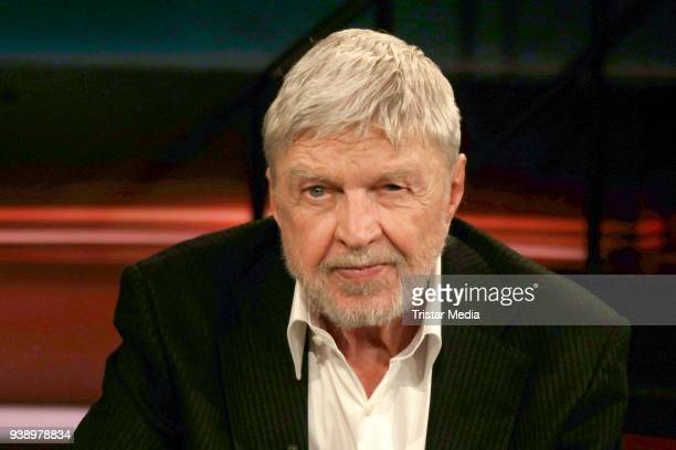 German actor and author Hardy Krueger during the 'Markus Lanz' TV show on March 27 2018 in Hamburg Germany