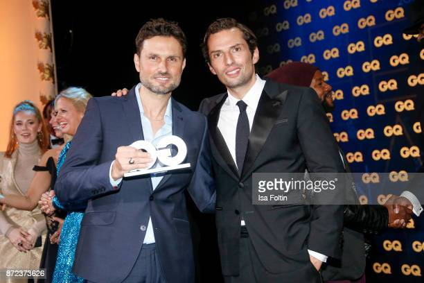 German actor and award winner Simon Verhoeven and director Quirin Berg during the GQ Men of the year Award 2017 show at Komische Oper on November 9...