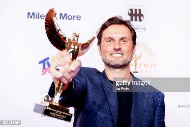 German actor and award winner Simon Verhoeven attends the Jupiter Award at Cafe Moskau on March 29 2017 in Berlin Germany