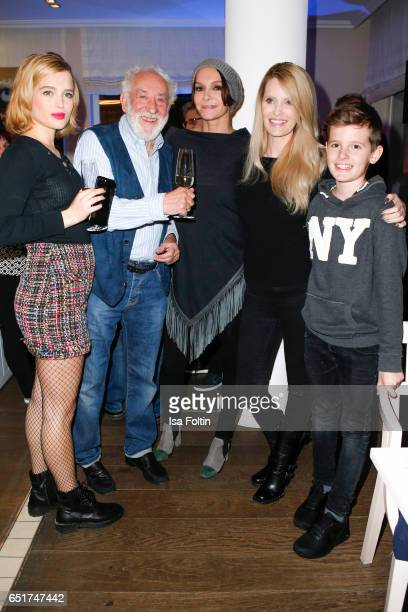 German actor and comedian Dieter Hallervorden german actress Anouschka Renzi with her daughter Chiara Moon Horst and german actress Mirja du Mont...