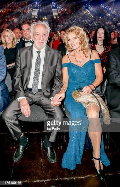 German actor and comedian Dieter Hallervorden with his partner Christiane Zander attends the Goldene Henne at Messe Leipzig on September 20 2019 in...