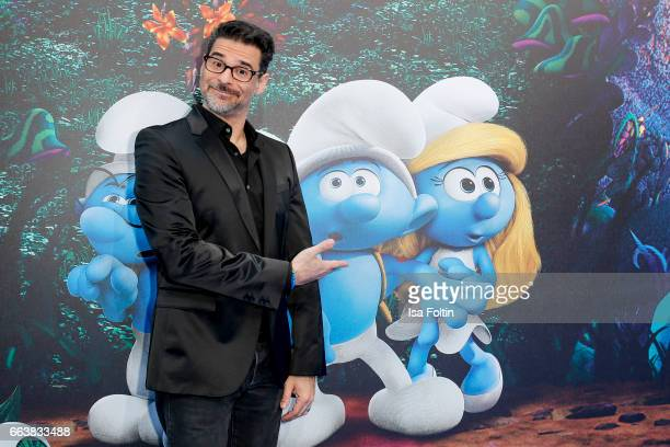 German actor and comedian Rick Kavanian during the 'Die Schluempfe Das verlorene Dorf' premiere at Sony Centre on April 2 2017 in Berlin Germany