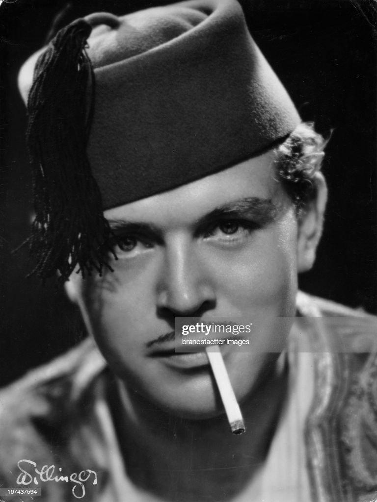 German actor and director Gustav Fröhlich. About 1930. Photograph. (Photo by Imagno/Getty Images) Der deutsche Schauspieler und Regisseur Gustav Fröhlich. Um 1930. Photographie.