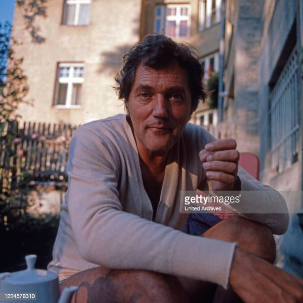German actor and dubbing actor Harald Leipnitz Germany 1970s