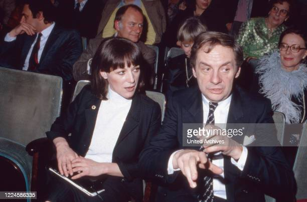 German actor and entertainer Harald Juhnke with his wife Susanne Germany 1980s