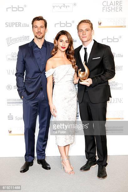 German actor and Goldene Henne award winner Florian David Fitz german actress Gizem Emre and german actor producer and Goldene Henne award winner...