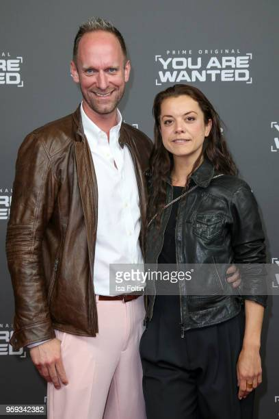 German actor and influencer Daniel Termann and German actress and dancer Julia Titze attend the premiere of the second season of 'You are wanted' at...