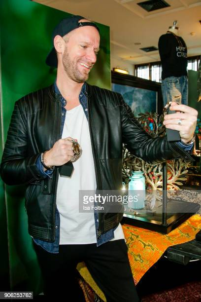 German actor and influencer Daniel Termann attends the Thomas Sabo Press Cocktail during the MercedesBenz Fashion Week Berlin A/W 2018 at China Club...