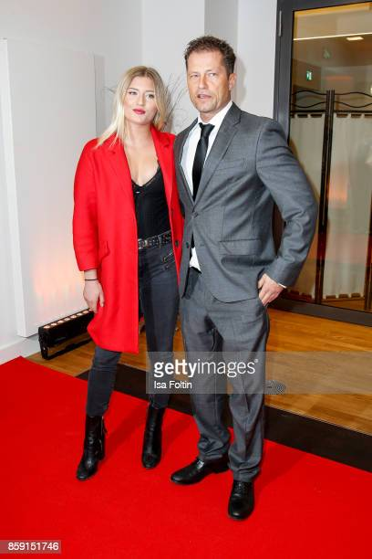 German actor and producer Til Schweiger and his daughter German actress Luna Schweiger attend the German Boxing Awards 2017 on October 8 2017 in...