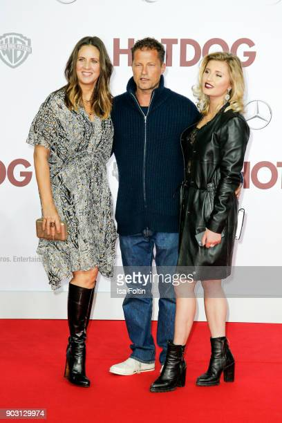 German actor and producer Til Schweiger with his ex wife Dana Schweiger and his daughter Luna Schweiger attend the 'Hot Dog' world premiere at...