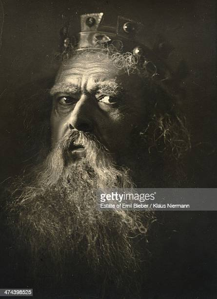German actor and theater director Alex Otto as he appears in the title role of Shakespeare's 'King Lear' Hamburg circa 1920