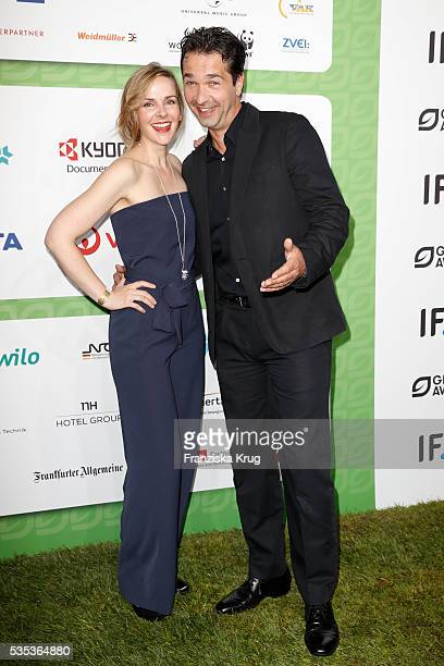 German actor Andreas Elsholz and his wife Denise Zich attend the Green Tec Award at ICM Munich on May 29 2016 in Munich Germany