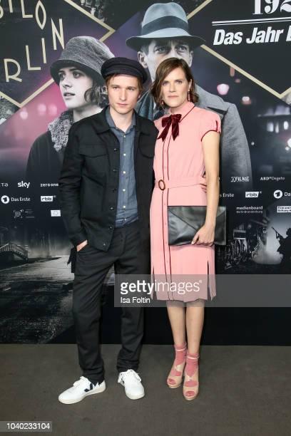 German actor Anton von Lucke and German actress Fritzi Haberlandt attend the premiere of the film '1929 Das Jahr Babylon' at Delphi Filmpalast on...