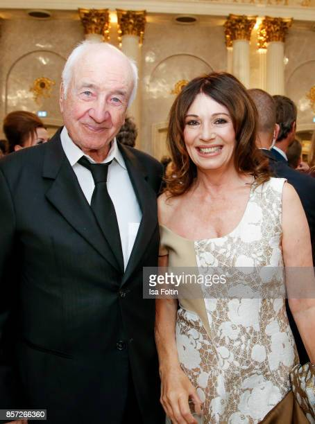 German actor Armin MuellerStahl and German actress Iris Berben during the ReOpening of the Staatsoper Unter den Linden on October 3 2017 in Berlin...