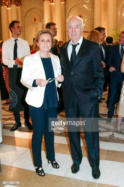 German actor Armin MuellerStahl and his wife Gabriele Scholz during the ReOpening of the Staatsoper Unter den Linden on October 3 2017 in Berlin...