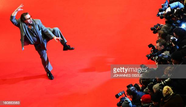 German actor Armin Rohde poses on the red carpet of the opening film of the Berlinale film festival 'Yi dai zong shi' in Berlin on February 7 2013...