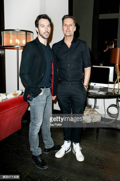 German actor Arne Stephan and Marco Stein during the Bunte New Faces Night at Grace Hotel Zoo on January 15 2018 in Berlin Germany