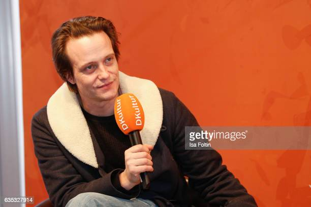 German actor August Diehl during the 'Berlinale Open House Talk' With August Diehl Audi At The 67th Berlinale International Film Festival on February...