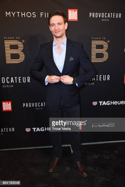 German actor August Wittgenstein attends the PLACE TO B PreBerlinale Dinner at Provocateur on February 7 2017 in Berlin Germany