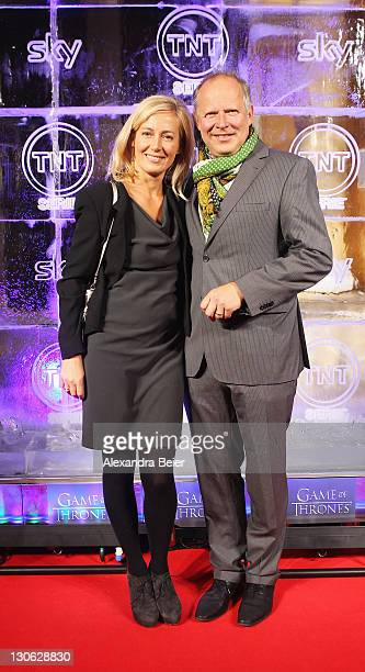 German actor Axel Milberg and his wife Judith Milberg attend 'Games of Thrones' Preview Event of TNT Serie and Sky at Hotel Bayerischer Hof on...