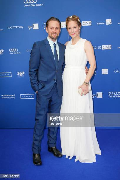 German actor Axel Schreiber and German actress Tessa Mittelstaedt during the 6th German Actor Award Ceremony at Zoo Palast on September 22 2017 in...