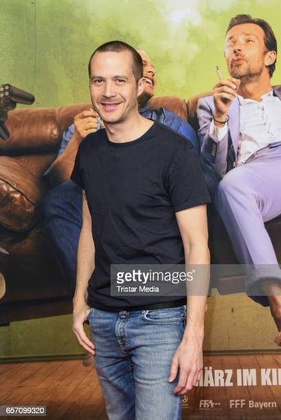 German actor Barnaby Metschurat during the premiere of the film 'Lommbock' at CineStar on March 23 2017 in Berlin Germany