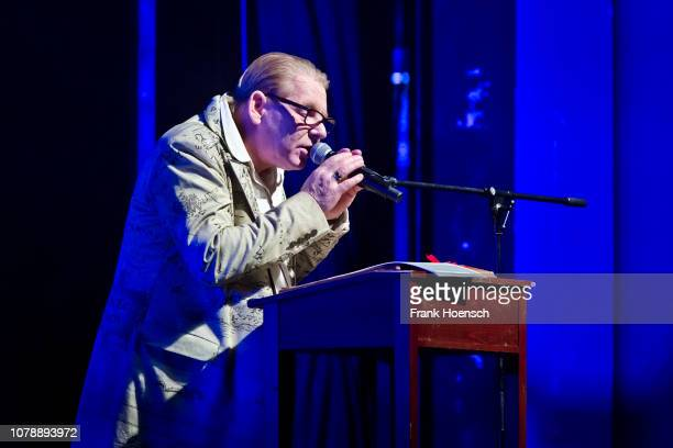 German actor Ben Becker performs live on stage during the concert 'Der Herr der Ringe Der Hobbit' at the Admiralspalast on January 7 2019 in Berlin...