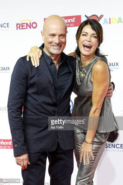 German actor Christian Berkel and German actress Gerit Kling attend the 'Goldene Bild der Frau' award at Hamburg Cruise Center on October 21, 2017 in...