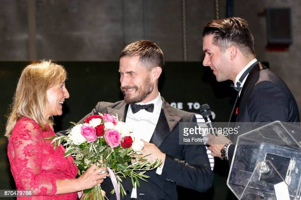 German actor Clemens Schick an employee of Audi and the winner of the car during the aftershow party during during the 24th Opera Gala at Deutsche...