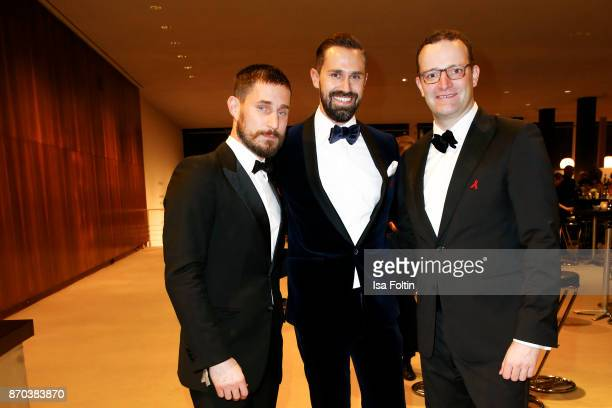 German actor Clemens Schick Daniel Funke and his partner German politician Jens Spahn during the 24th Opera Gala at Deutsche Oper Berlin on November...