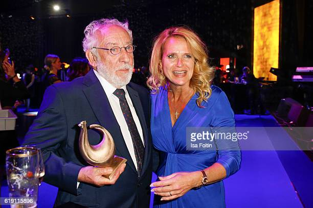 German actor comedian and Goldene Henne award winner Dieter Hallervorden and his girlfriend Christiane Zander during the aftershow party at the...