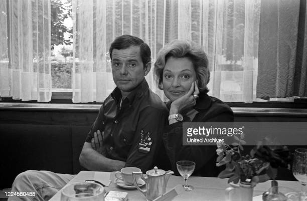German actor couple Walter Giller and Nadja Tiller Germany 1970s