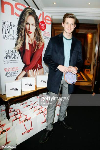 German actor Damian Hardung during the Burda Style Lounge on the occasion of the German Film Ball on January 20 2018 in Munich Germany