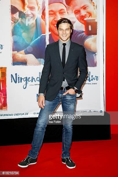 German actor Daniel Axt attends the German premiere of the film 'Nirgendwo' at Cubix Alexanderplatz on October 17 2016 in Berlin Germany